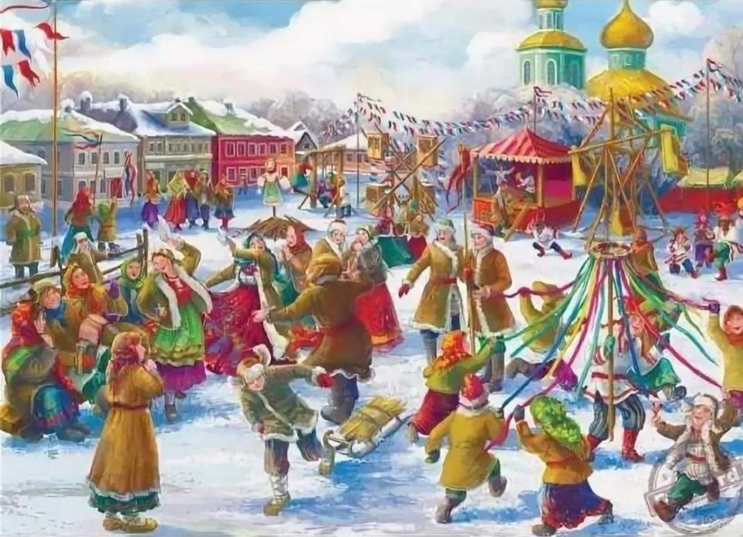 Празднование масленицы на руси в картинках